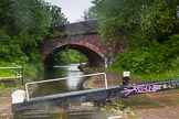 BCN Marathon Challenge 2014: Garrison Top Lock at bridge 104A (Garrison Street Railway Bridge ) on the Grand Union Canal (Birmingham & Warwick Junction Canal). Birmingham Canal Navigation,   United Kingdom, on 23 May 2014 at 17:00, image #68