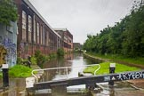 BCN Marathon Challenge 2014: Old canalside industry at Garrison Locks (fourth lock, with the third lock in the distance) on the Grand Union Canal (Birmingham & Warwick Junction Canal).. Birmingham Canal Navigation,   United Kingdom, on 23 May 2014 at 17:30, image #70