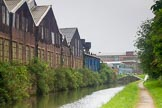 BCN Marathon Challenge 2014: Garrison Locks on theGrand Union Canal (Birmingham & Warwick Junction Canal), with old industry in a rather sad state on the left - but work seemed to be going on inside. Birmingham Canal Navigation,   United Kingdom, on 24 May 2014 at 08:40, image #78