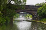 BCN Marathon Challenge 2014: There are five bridges in the line of view on the Grand Union Canal between Garrison Locks and Bordesley Junction. Birmingham Canal Navigation,   United Kingdom, on 24 May 2014 at 09:18, image #83