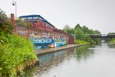 BCN Marathon Challenge 2014: Canalside art next to the Grand Union Canal, close to Bordesley Junction between bridges 103 and 103A. Birmingham Canal Navigation,   United Kingdom, on 24 May 2014 at 09:19, image #84