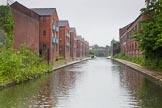 BCN Marathon Challenge 2014: New and old - Phoenix Wharf on the right, and a new development on the right, on the Grand Union Canal, near Bordesley Junction between bridges 100 and 99. Birmingham Canal Navigation,   United Kingdom, on 24 May 2014 at 09:21, image #85
