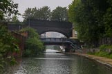 BCN Marathon Challenge 2014: On the Digbeth Branch near Bordesley Junction, with two bridges almost crossing each other over the canal. Birmingham Canal Navigation,   United Kingdom, on 24 May 2014 at 09:27, image #89