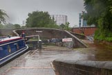 BCN Marathon Challenge 2014: Aston Top Lock on the Birmingham & Fazeley Canal at Aston Junction on a very wet day. Birmingham Canal Navigation,   United Kingdom, on 24 May 2014 at 10:22, image #102
