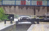 BCN Marathon Challenge 2014: Aston Locks on the Birmingham & Fazeley Canal, seen from Aston Lock Nr 2  at Fartmouth Middleway Bridge. Birmingham Canal Navigation,   United Kingdom, on 24 May 2014 at 10:24, image #104