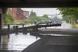 BCN Marathon Challenge 2014: Aston Lock Nr 3 on the Birmingham & Fazeley Canal at Fartmouth Middleway Bridge. From the Campanile Hotel on the left the view must be great!. Birmingham Canal Navigation,   United Kingdom, on 24 May 2014 at 10:28, image #106