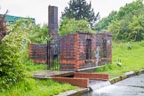 BCN Marathon Challenge 2014: Remains of a canalside building close to  Salford Junction on the Tame Valley Canal. Is it the pumping station?. Birmingham Canal Navigation,   United Kingdom, on 24 May 2014 at 12:09, image #113