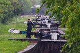 BCN Marathon Challenge 2014: Looking up the Perry Bar Locks on the Tame Valley Canal from the pond between locks 6 and 7. Birmingham Canal Navigation,   United Kingdom, on 24 May 2014 at 13:30, image #118