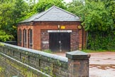 BCN Marathon Challenge 2014: Gauging Weir House at Perry Bar Top Lock on the Tame Valley Canal. Birmingham Canal Navigation,   United Kingdom, on 24 May 2014 at 14:17, image #124