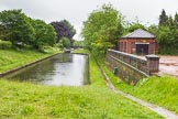 BCN Marathon Challenge 2014: Looking down the Perry Bar Locks on the Tame Valley Canal from the top lock, with the Gauging Weir House on the right. Birmingham Canal Navigation,   United Kingdom, on 24 May 2014 at 14:17, image #125