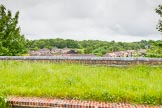 BCN Marathon Challenge 2014: The Tame Valley Canal, as one of the last parts of the BCN to be built, has a dead straight summit level, here on an embankment overlooking local housing at Great Barr. Birmingham Canal Navigation,   United Kingdom, on 24 May 2014 at 14:35, image #128