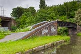 BCN Marathon Challenge 2014: Rushall Junction on the Tame Valley Canal, with the Rushall Canal on the left. Birmingham Canal Navigation,   United Kingdom, on 24 May 2014 at 14:57, image #137