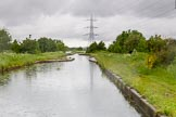 BCN Marathon Challenge 2014: Narrow area on the Tame Valley Canal before the concrete aqueduct over the M5 motorway. In case of a breach, the flow of water can be stopped at the narrow section.. Birmingham Canal Navigation,   United Kingdom, on 24 May 2014 at 15:05, image #141