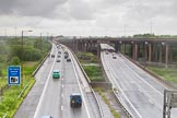 BCN Marathon Challenge 2014: The M5 motorway seen from the Tame Valley Canal at the aqueduct over the M5. Birmingham Canal Navigation,   United Kingdom, on 24 May 2014 at 15:07, image #144