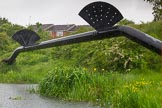 BCN Marathon Challenge 2014: Pipe bridge on the Tame Valley Canal near the M5 aqueduct. Birmingham Canal Navigation,   United Kingdom, on 24 May 2014 at 15:17, image #146