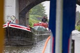 "BCN Marathon Challenge 2014: Meeting narrowboat ""Tiger"" (??) at Crankhall Lane Bridge on the Tame Valley Canal. Birmingham Canal Navigation,   United Kingdom, on 24 May 2014 at 15:24, image #148"
