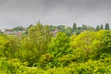 BCN Marathon Challenge 2014: Wednesbury, seen from the Tame Valley Canal: The spire of St Bartholomews Church and Wednesbury Windmill.. Birmingham Canal Navigation,   United Kingdom, on 24 May 2014 at 15:36, image #154
