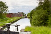 BCN Marathon Challenge 2014: Riders Green Locks on the Walsall Canal, with another old factory building on the left that might be gone in the next few years. Birmingham Canal Navigation,   United Kingdom, on 24 May 2014 at 16:56, image #163