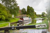 BCN Marathon Challenge 2014: The top of the Riders Green flight on the Walsall Canal at Riders Green Junction, with the Wednesbury Old Canal/Ridgacre Branch on the left.. Birmingham Canal Navigation,   United Kingdom, on 24 May 2014 at 17:11, image #164