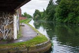 BCN Marathon Challenge 2014: Brades Hall Junction seen from the Old Main Line. The Gower Branch (on the left) connects the the Old Main Line with the New Main Line, via the Brades Locks, at Albion Junction. Birmingham Canal Navigation,   United Kingdom, on 24 May 2014 at 20:44, image #183