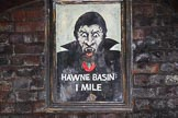 BCN Marathon Challenge 2014: Framed (!) Dracula painting in Gosty Hill Tunnel on the Dudley No 2 Canal. Birmingham Canal Navigation,   United Kingdom, on 24 May 2014 at 22:46, image #187
