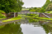 BCN Marathon Challenge 2014: Toll End Works rowing brige over the Dudley No 1 Canal at Windmill End Junction, with Netherton Tunnel ahead. Birmingham Canal Navigation,   United Kingdom, on 25 May 2014 at 06:36, image #202