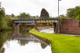 BCN Marathon Challenge 2014: Railway- and road bridge on the Dudley No 2 Canal close to Gosty Hill Tunnel, with the adjacent Station Road almost at canal level. Birmingham Canal Navigation,   United Kingdom, on 25 May 2014 at 11:18, image #230