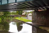 BCN Marathon Challenge 2014: Railway- and road bridge on the Dudley No 2 Canal close to Gosty Hill Tunnel, with the adjacent Station Road almost at canal level. Birmingham Canal Navigation,   United Kingdom, on 25 May 2014 at 11:19, image #231