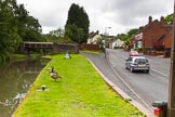 BCN Marathon Challenge 2014: Station Road on the right, and Granville Road crossing the Dudley No 2 Canal close to the entrance of Gosty Hill Tunnel. Birmingham Canal Navigation,   United Kingdom, on 25 May 2014 at 11:22, image #232