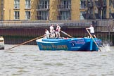 TOW River Thames Barge Driving Race 2014. River Thames between Greenwich and Westminster, London,  United Kingdom, on 28 June 2014 at 12:43, image #124