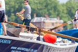 TOW River Thames Barge Driving Race 2014. River Thames between Greenwich and Westminster, London,  United Kingdom, on 28 June 2014 at 13:27, image #232
