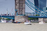 TOW River Thames Barge Driving Race 2014. River Thames between Greenwich and Westminster, London,  United Kingdom, on 28 June 2014 at 13:29, image #239