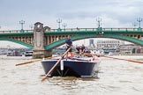 TOW River Thames Barge Driving Race 2014. River Thames between Greenwich and Westminster, London,  United Kingdom, on 28 June 2014 at 13:46, image #293