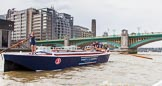 TOW River Thames Barge Driving Race 2014. River Thames between Greenwich and Westminster, London,  United Kingdom, on 28 June 2014 at 13:46, image #294
