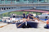TOW River Thames Barge Driving Race 2014. River Thames between Greenwich and Westminster, London,  United Kingdom, on 28 June 2014 at 13:49, image #307