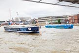 TOW River Thames Barge Driving Race 2014. River Thames between Greenwich and Westminster, London,  United Kingdom, on 28 June 2014 at 13:50, image #315