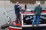 "BCN 24h Marathon Challenge 2015: Opening the envelope with the challenges for the event on board of narrowboat ""Old Friends"" at Old Turn Junction. Birmingham Canal Navigations,    on 23 May 2015 at 07:57, image #1"