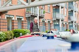 "BCN 24h Marathon Challenge 2015: Charley Johnston steering ""Felonious Mongoose"" at the start of the event. Birmingham Canal Navigations,    on 23 May 2015 at 08:35, image #7"
