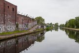 BCN 24h Marathon Challenge 2015: On the BCN Main Line, approaching Sandy Turn, the junction with the Icknield Port Loop, from the west. Birmingham Canal Navigations,    on 23 May 2015 at 08:43, image #8