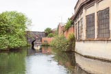 BCN 24h Marathon Challenge 2015: Icknield Port Loop, with old industry on the right, and the Icknield Port Road Bridge ahead. Birmingham Canal Navigations,    on 23 May 2015 at 08:47, image #14