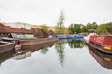 BCN 24h Marathon Challenge 2015: The Canal & River Trust maintenance depot at Icknield Port, with the dam of Rotton Park Reservoir behind. Birmingham Canal Navigations,    on 23 May 2015 at 08:49, image #17