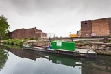 BCN 24h Marathon Challenge 2015: Old industry is demolished at Icknield Port Loop. In the background the BT Tower.. Birmingham Canal Navigations,    on 23 May 2015 at 08:55, image #21
