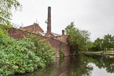 BCN 24h Marathon Challenge 2015: The factory on the left seems to have used the canal for transport. Now it is used to hold mobile phone transmitters.. Birmingham Canal Navigations,    on 23 May 2015 at 09:05, image #31