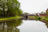 BCN 24h Marathon Challenge 2015: Pope Bridge, with Smethwick Bottom Lock No 3 behind, on the BCN Old Main Line. The right arch of the bridge was for Brindley's orginal locks, the locks on the left is for Smeaton's duplicate flight.. Birmingham Canal Navigations,    on 23 May 2015 at 10:09, image #58