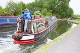 "BCN 24h Marathon Challenge 2015: Narrow boat ""Swallow"" at the Smethwick Locks. For a virtual tour of Swallow see j.mp/bclm-swallow. Birmingham Canal Navigations,    on 23 May 2015 at 10:31, image #62"