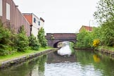 BCN 24h Marathon Challenge 2015: Engine Bridge, on the BCN Engine Arm, looking towards the terminus. The former pub on the left seems to be in a ppor state.. Birmingham Canal Navigations,    on 23 May 2015 at 10:46, image #75