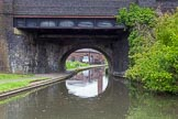 BCN 24h Marathon Challenge 2015: Brasshouse Lane Bridge over the BCN Old Main Line near Engine Arm Junction, with Smethwick Pumping Station behind. Birmingham Canal Navigations,    on 23 May 2015 at 11:19, image #82