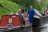 "BCN 24h Marathon Challenge 2015: Meeting working narrow boats ""Nuneaton"" and ""Brighton"" on the BCN Old Main Line near Smethwick Summit Tunnel. Birmingham Canal Navigations,    on 23 May 2015 at 11:30, image #89"