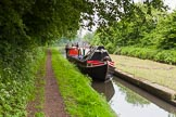 "BCN 24h Marathon Challenge 2015: Historic narrowboat ""Clover"" passing the toll islnd at Bromford Junction. Birmingham Canal Navigations,    on 23 May 2015 at 12:27, image #100"