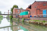 BCN 24h Marathon Challenge 2015: A factory footbridge over the Wednesbury Old Canal near Ryders Green Junction. Birmingham Canal Navigations,    on 23 May 2015 at 13:06, image #109
